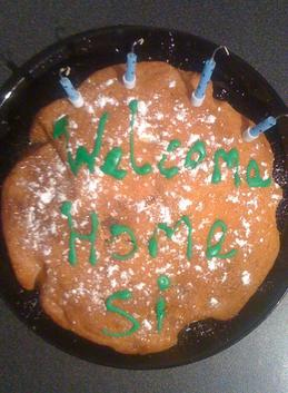Welcome home Si! Jenna's amazing cakes