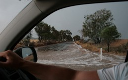 Flash floods on the way back